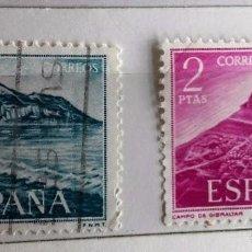 Sellos: ESPAÑA 1969, 2 SELLOS SERIE COMPLETA PRO TRABAJADORES EN GIBRALTAR. Lote 202972636