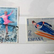 Sellos: ESPAÑA 1972 JUEGOS OLÍMPICOS INVIERNO, SERIE COMPLETA USADOS. Lote 202976342