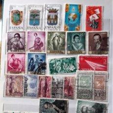Sellos: ESPAÑA 1965 , 28 SELLOS USADOS, DIFERENTES. Lote 202977083