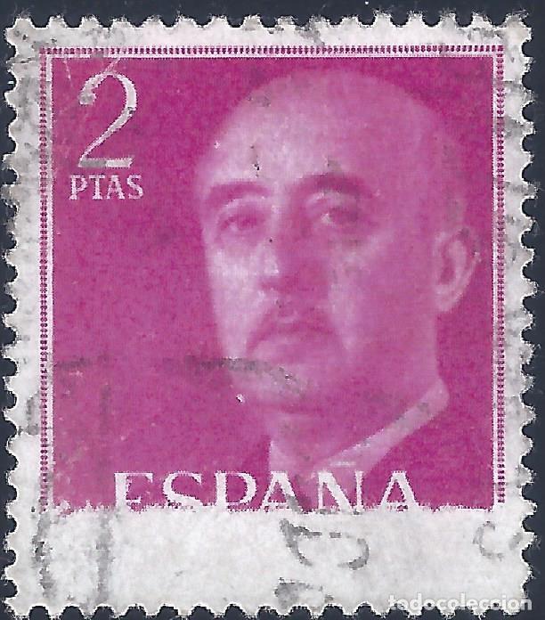 EDIFIL 1158 GENERAL FRANCO 1956 (VARIEDAD...GRAN FALLO DE IMPRESIÓN). LUJO. (Sellos - España - II Centenario De 1.950 a 1.975 - Usados)