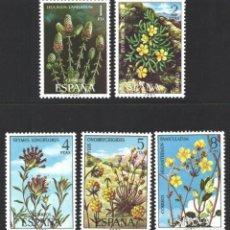 Selos: ESPAÑA, 1974 EDIFIL Nº 2220 / 2224 /**/, FLORA. Lote 203301370