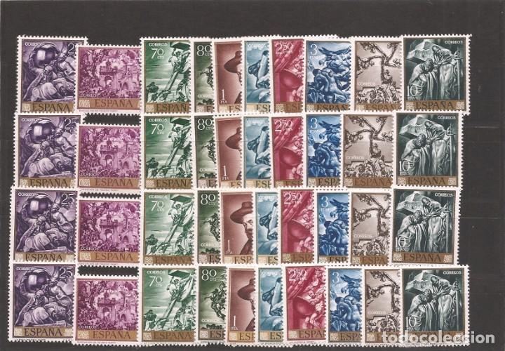 SELLOS D ESPAÑA AÑO 1966 PINTOR SERT 4 SERIES NUEVAS** (Sellos - España - II Centenario De 1.950 a 1.975 - Nuevos)