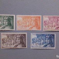 Sellos: ESPAÑA - 1952 - EDIFIL 1111/1115 - SERIE COMPLETA - MNH** - NUEVOS - CENTRADOS.. Lote 203905637