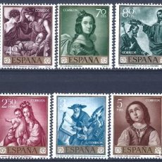 Sellos: EDIFIL 1418-1427 FRANCISCO DE ZURBARÁN 1962 (SERIE COMPLETA). VALOR CATÁLOGO: 22 €. MNH **. Lote 203983856