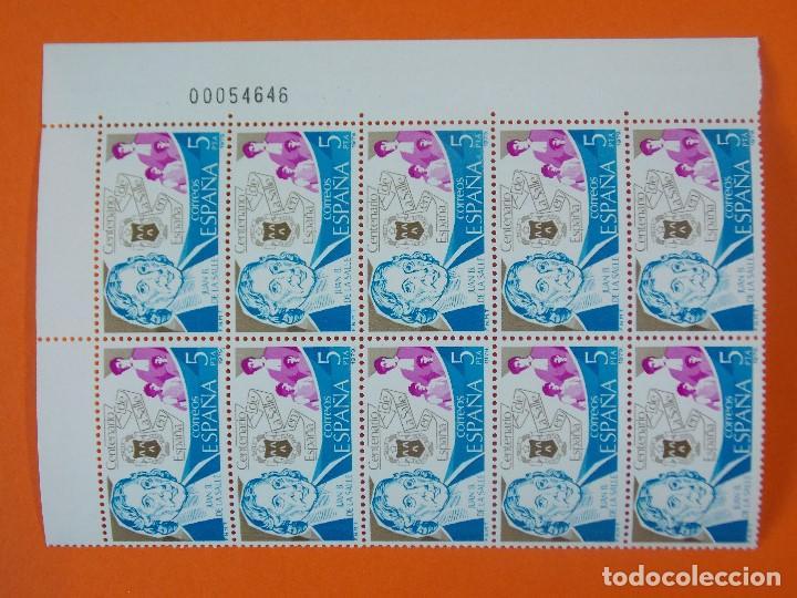 EDIFIL 2511, CENTENARIO DE LA SALLE, AÑO 1979, 1 BLOQUE DE 10 SELLOS - NUEVOS... L984 (Sellos - España - II Centenario De 1.950 a 1.975 - Nuevos)
