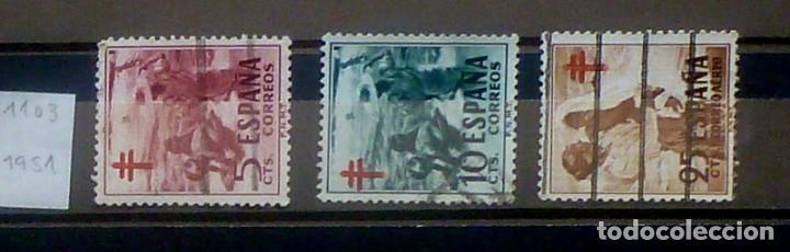 SELLOS ESPAÑA 1951- FOTO 855- Nº 1103, COMPLETA,USADO (Sellos - España - II Centenario De 1.950 a 1.975 - Usados)
