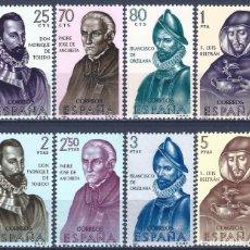 Sellos: EDIFIL 1678-1685 FORJADORES DE AMÉRICA 1965. (SERIE COMPLETA). MNH **. Lote 204276590