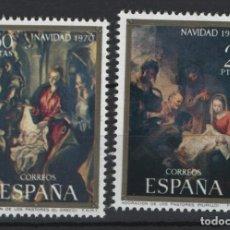 Sellos: TV_001.G3/ ESPAÑA 1970, EDIFIL 2002/03 MNH**, NAVIDAD. Lote 215443685