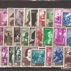 Sellos: SELLOS DE ESPAÑA AÑOS 1958 , 159 Y 60 PINTORES VELÁZQUEZ , GOYA Y MURILLO SELLOS NUEVOS**. Lote 205051387