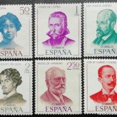 Sellos: 1970. ESPAÑA. 1990 / 1995. LITERATOS. UNAMUNO, BÉCQUER, CONCHA ESPINA, ETC. SERIE COMPLETA. NUEVO.. Lote 205397118