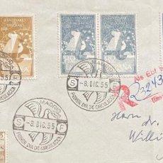 Sellos: ESPAÑA: CARTA CIRCULADA AÑO 1955. Lote 205652717