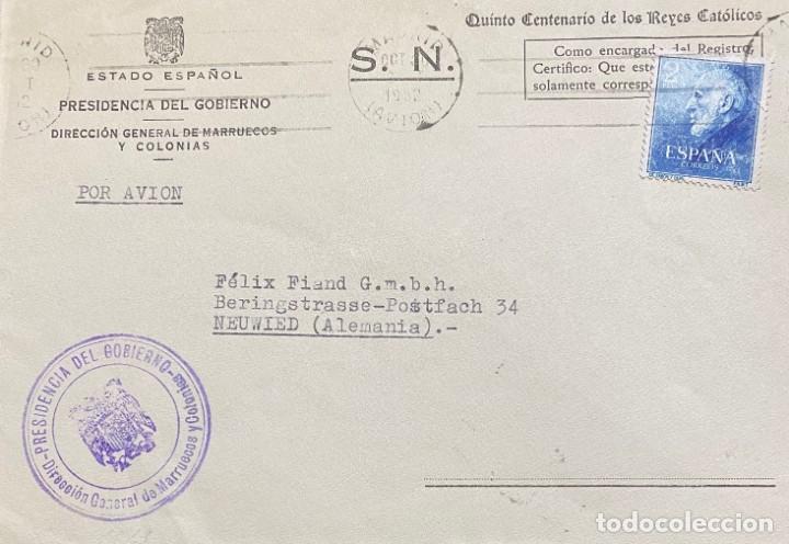 ESPAÑA: CARTA CIRCULADA AÑO 1952 (Sellos - España - II Centenario De 1.950 a 1.975 - Cartas)