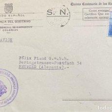 Sellos: ESPAÑA: CARTA CIRCULADA AÑO 1952. Lote 205881003