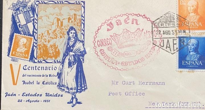 ESPAÑA: CARTA CIRCULADA AÑO 1951 (Sellos - España - II Centenario De 1.950 a 1.975 - Cartas)