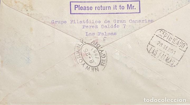 Sellos: ESPAÑA: CARTA CIRCULADA AÑO 1951 - Foto 2 - 205881495