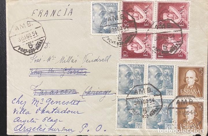 ESPAÑA: CARTA CIRCULADA EL AÑO 1954 (Sellos - España - II Centenario De 1.950 a 1.975 - Cartas)