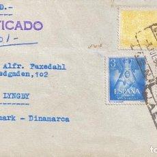 Sellos: ESPAÑA CARTA CIRCULADA AÑO 1956. Lote 205885940