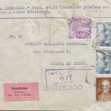 Sellos: ESPAÑA CARTA CIRCULADA AÑO 1954. Lote 205895607