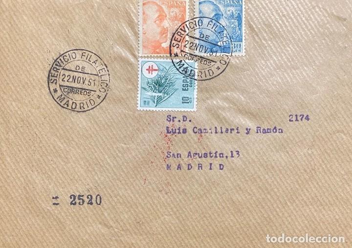 ESPAÑA CARTA CIRCULADA AÑO 1951 (Sellos - España - II Centenario De 1.950 a 1.975 - Cartas)