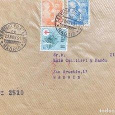 Sellos: ESPAÑA CARTA CIRCULADA AÑO 1951. Lote 205897336