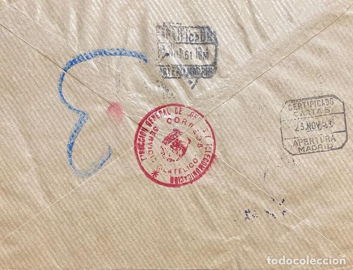 Sellos: ESPAÑA CARTA CIRCULADA AÑO 1951 - Foto 2 - 205897336