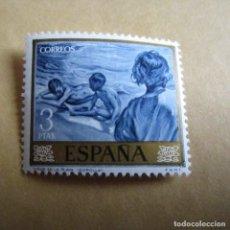 Sellos: ESPAÑA 1964, EDIFIL Nº 1573**, JOAQUIN SOROLLA, NIÑOS EN LA PLAYA. Lote 206573607