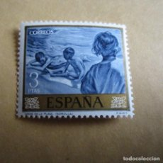 Sellos: ESPAÑA 1964, EDIFIL Nº 1573**, JOAQUIN SOROLLA, NIÑOS EN LA PLAYA. Lote 206573675