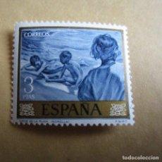 Sellos: ESPAÑA 1964, EDIFIL Nº 1573**, JOAQUIN SOROLLA, NIÑOS EN LA PLAYA. Lote 206573747