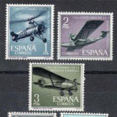 Sellos: 1961 EDIFIL 1401/05** NUEVOS SIN CHARNELA. AVIACION ESPAÑOLA (220-7). Lote 206575811