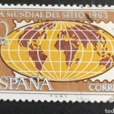 Sellos: ESPAÑA, N°1511 USADO, AÑO 1963 (FOTOGRAFÍA ESTÁNDAR). Lote 206777385