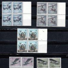 Sellos: 1961 EDIFIL 1401/05** NUEVOS SIN CHARNELA BH. BLOQUE CUATRO. AVIACION ESPAÑOLA (220-7). Lote 206930348