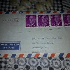 Sellos: CARTA CORREO AEREO DE 1974. DESTINO IRLANDA. ORIGEN COLEGIO DE SAN ESTANISLAO DE MALAGA. RARO. Lote 207244405