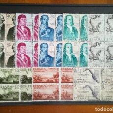 Sellos: SERIE FORJADORES DE AMERICA AÑO 1967 NUEVOS EN BLOQUE DE 4. Lote 208579247