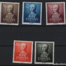 Sellos: R75.G11/ ESPAÑA 1951, EDIFIL 1092/96 MNH**, ISABEL LA CATOLICA, CATALOGO 64,00 €. Lote 208673471