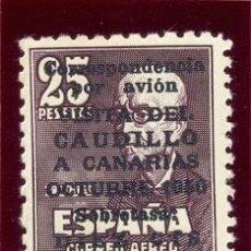 Sellos: SELLO ESPAÑA FALLA CON SOBRETASA AVION VISITA A CANARIAS - CON NUMERO DE SERIE-. Lote 210028990