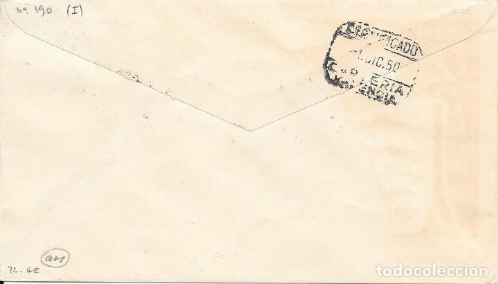 Sellos: SPD CENTENARIO CIA TRASATLANTICA BARCELONA. DE BARCELONA A VALENCIA 1950 - Foto 2 - 210472992