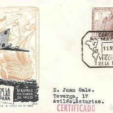 Sellos: SOBRE CONMEMORATIVO VI CONGRESO DE LA UPAE. DE MADRID A AVILES 1950. Lote 210473517