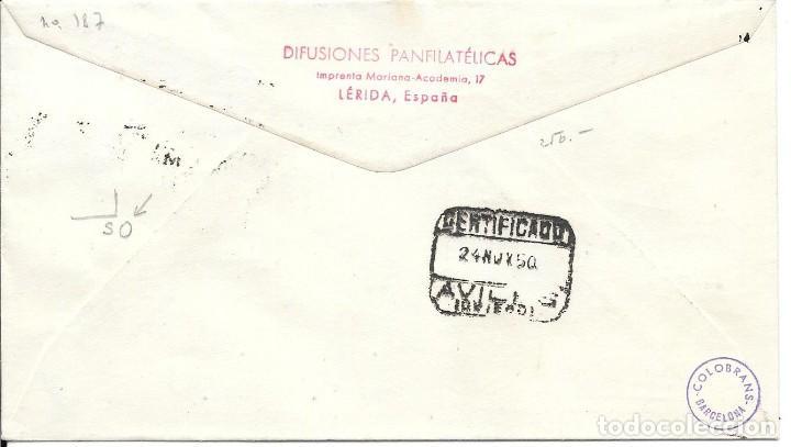 Sellos: SOBRE CONMEMORATIVO VI CONGRESO DE LA UPAE. DE MADRID A AVILES 1950 - Foto 2 - 210473517