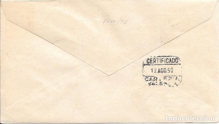 Sellos: SOBRE CONMEMORATIVO DE LA EXPOSICION DEL CENTENARIO DEL SELLO. BILBAO A VALENCIA. 1950 - Foto 2 - 210474865