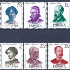 Sellos: EDIFIL 1990-1995 LITERATOS ESPAÑOLES 1970 (SERIE COMPLETA). MNH **. Lote 221003320