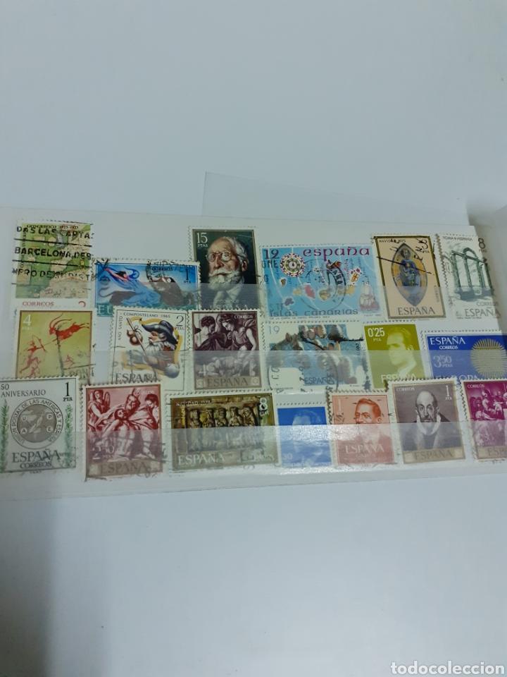 Sellos: Lote de 37 sellos españoles, con matasellos - Foto 2 - 210524763