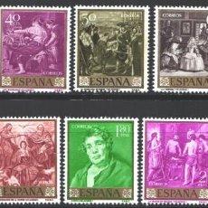 Sellos: ESPAÑA, 1959 EDIFIL Nº 1238 / 1247 /**/, DIEGO VELÁZQUEZ. SIN FIJASELLOS. Lote 210525926