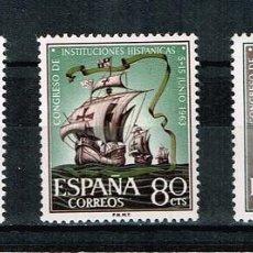 Sellos: ESPAÑA 1963 - EDIFIL 1513-15** - CONGRESO DE INSTITUCIONES HISPÁNICAS. Lote 210526178