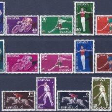 Sellos: EDIFIL 1306-1319 DEPORTES 1960 (SERIE COMPLETA). MNH **. Lote 210526776