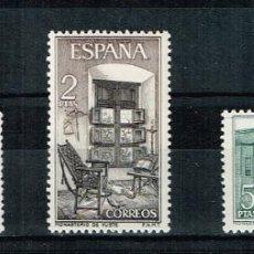 Sellos: ESPAÑA 1965 - EDIFIL 1686-88** - MONASTERIO DE YUSTE. Lote 210526902