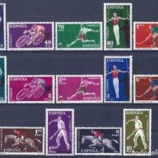 Sellos: EDIFIL 1306-1319 DEPORTES 1960 (SERIE COMPLETA). MH *. Lote 210526962