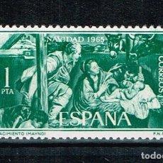 Sellos: ESPAÑA 1965 - EDIFIL 1692** - NAVIDAD. Lote 210526975