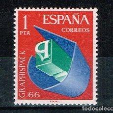 Sellos: ESPAÑA 1966 - EDIFIL 1709** - GRAPHISPACK 66 - SERIE COMPLETA SELLOS. Lote 210527111