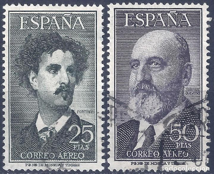 EDIFIL 1164-1165 FORTUNY Y TORRES QUEVEDO 1955-1956 (SERIE COMPLETA). EXCELENTE CENTRADO. (Sellos - España - II Centenario De 1.950 a 1.975 - Usados)
