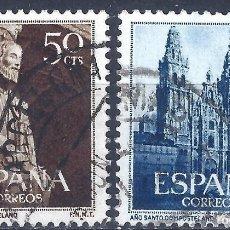 Sellos: EDIFIL 1130-1131 AÑO SANTO COMPOSTELANO 1954 (SERIE COMPLETA). EXCELENTE CENTRADO. V. CAT.: 7,25 €.. Lote 210945670